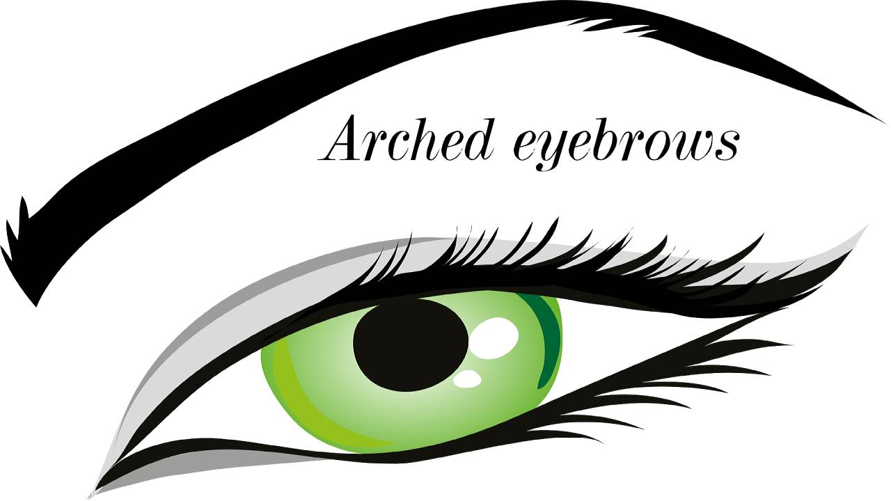 Arched eyebrows